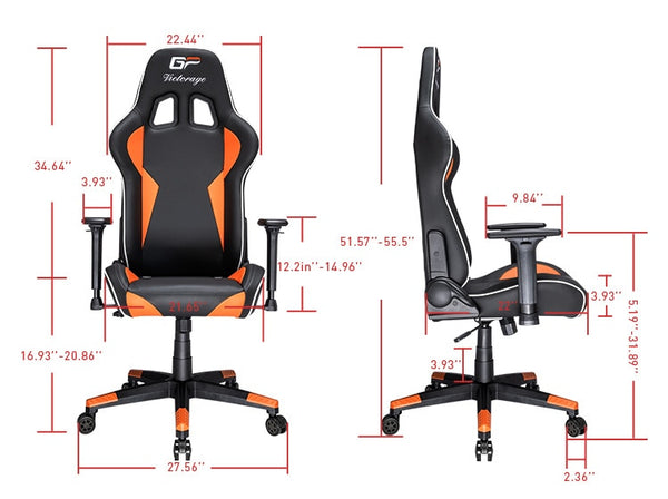 VICTORAGE Alpha Series Ergonomic Design Gaming Chair(Black/Orange)