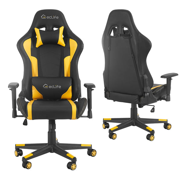 Black & Yellow Ergonomic car style gaming chair / LUCKWIND racing chair/massage gaming chair/office chair