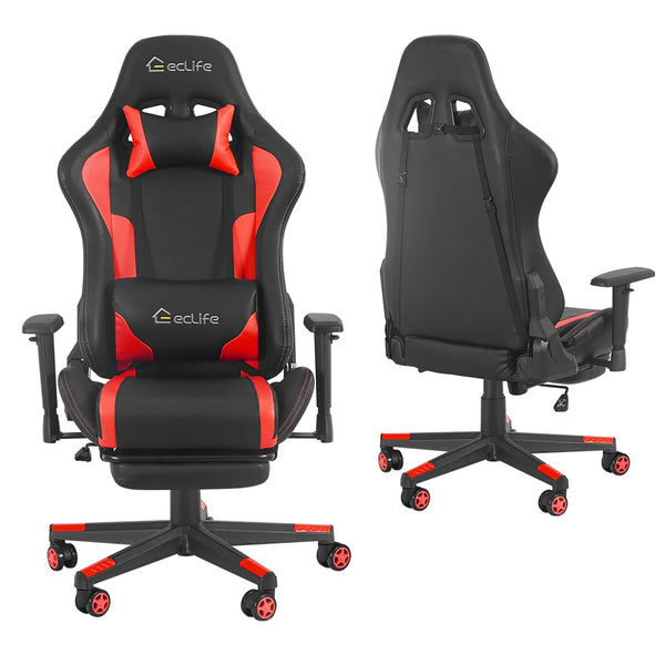 Black & Red Ergonomic car style gaming chair / LUCKWIND racing chair/massage gaming chair/office chair