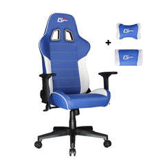 Blue Victorage computer game chair racing chair