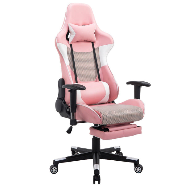 Giantex Modern Reclining Gaming Chair High Back Racing Office Chair with Lumbar Support & Footrest Modern Armchairs