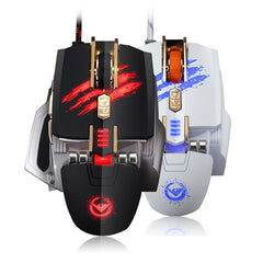RAJFOO New Laser Mouse USB Computer mouse Gaming Mouse with 7 Color Breathing Light 4000DPI 4speed Transmissionf for Gamer