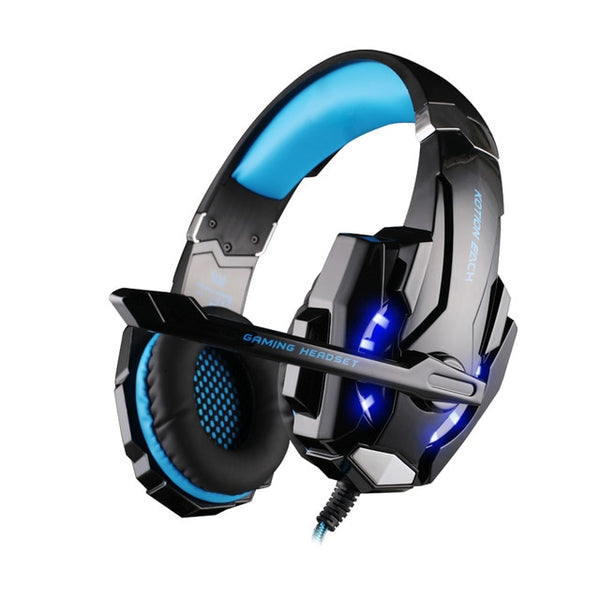 EACH G9000 3.5mm Gaming Headphone 7.1 Surround Sound Computer Headset Game Earphone with Mic LED Light for PC PS4 Phones