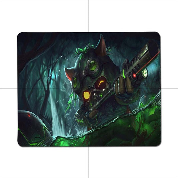 Non Slip PC League of legends Teemo Customized Gaming small mousepad
