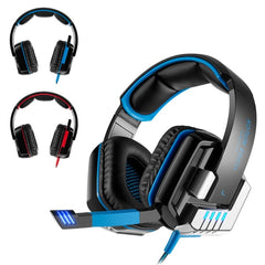 Professional Wired Gaming G8000 3.5mm Headset Headphone Bass Stereo Earphone with Mic Noise Cancelling For Computer Games