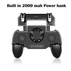 Building in 4000mah powerbank PUBG mobile Gamepad Gaming Controller with Cooling Fan Fire Game Joystick Metal Trigger