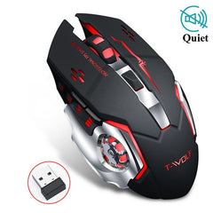 Professional Silent Gaming Wireless Mouse 2.4GHz 2400DPI Rechargeable Wireless Mice USB Optical Game Backlight Mouse For Gamer