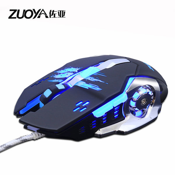 ZUOYA Professional gamer Gaming Mouse 8D 3200DPI Adjustable Wired Optical LED Computer Mice USB Cable Mouse for laptop PC
