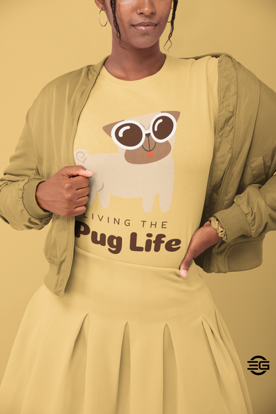 Living the Pug Life Unisex Jersey Short Sleeve Tee