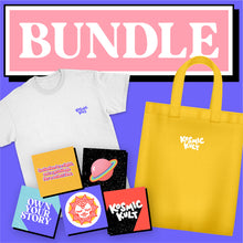 Load image into Gallery viewer, T-Shirt, Tote Bag & Stickers Bundle