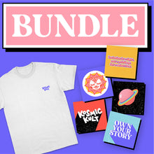 Load image into Gallery viewer, Bundle of T-shirt + Sticker Pack | KosmicKult