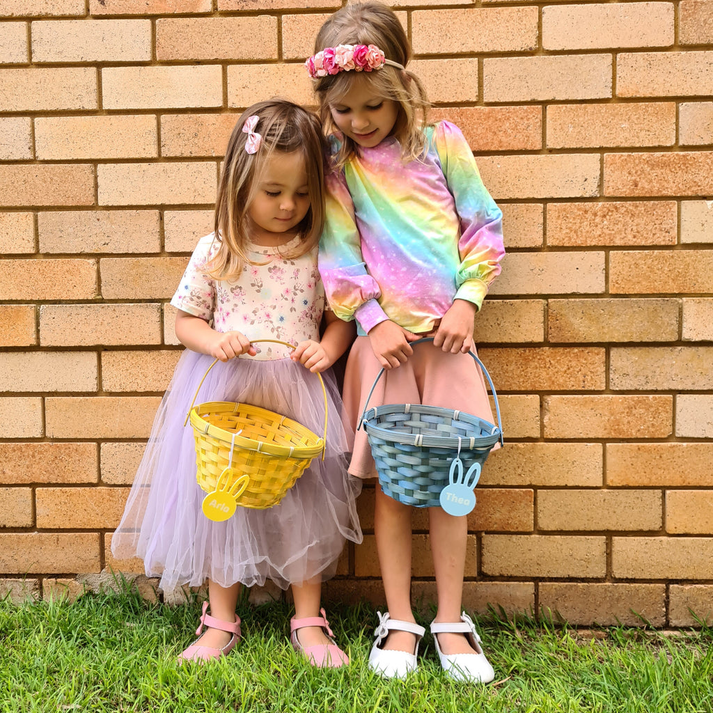 Our First Easter Egg Keepsake is the perfect for a  child's first Easter photo to capture the moment, featuring a bunny rabbit design. Photo prop