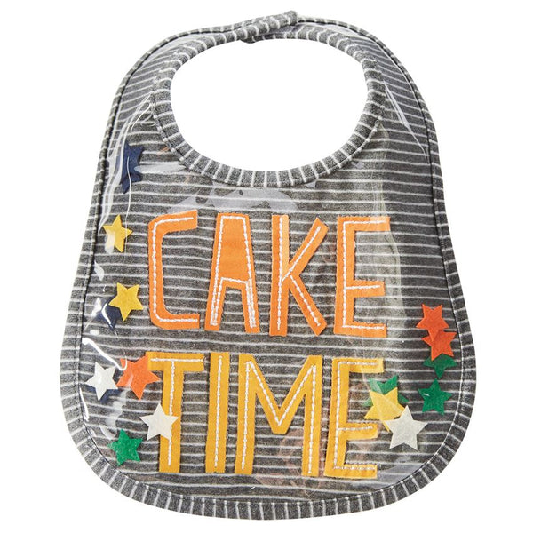 MUD PIE CAKE TIME BIB