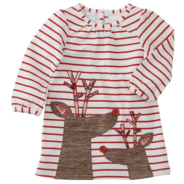 STRIPED REINDEER DRESS