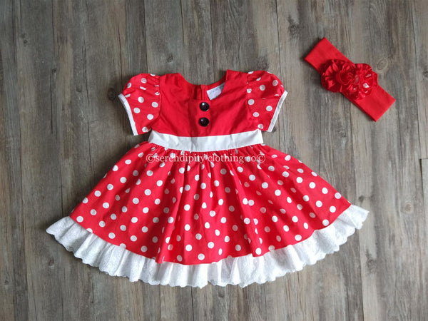 SERENDIPITY POLKA DOT DRESS