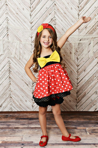 SERENDIPITY MINNIE BOW TUNIC & SHORTIES