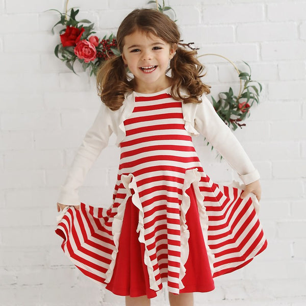Lemon Loves Lime Peppermint Candy Cane Dress