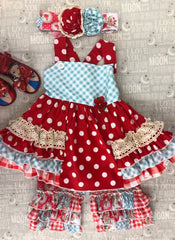 Red/white Polka Dot 2-piece