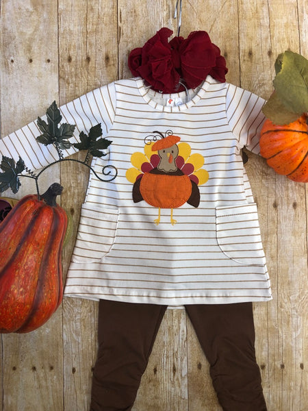 Turkey Tunic with Brown Leggings