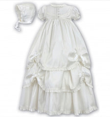 SARAH LOUISE SILK CHRISTENING GOWN