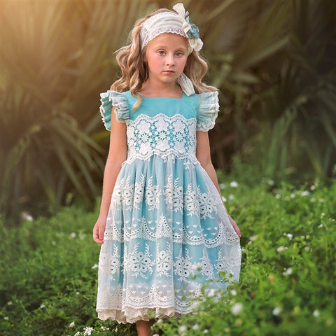 HAUTE BABY FRILLY FROCKS NORA LACE DRESS