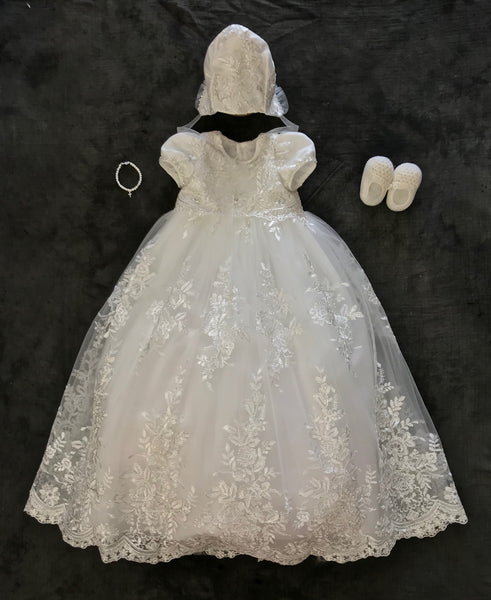 Christening Gown with Bonnet