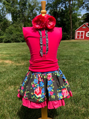 Persnickety Summer Floral Skirt Set