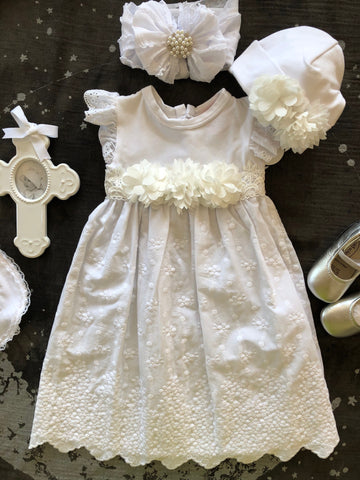 HAUTE BABY CHRISTENING GOWN & HAT