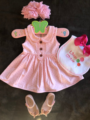 SERENDIPITY PINK DOT DRESS