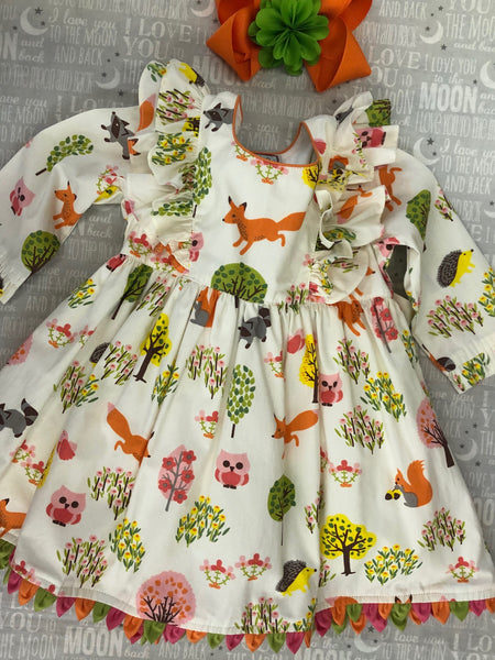 Cotton Kids Fox in the Woods Dress