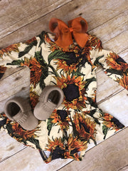 POSH PEANUT AREV SUNFLOWER INFANT DRESS