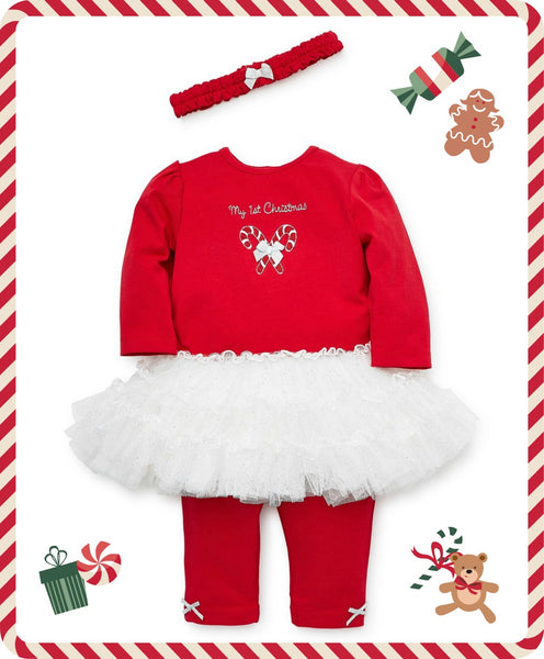 HOLIDAY CANDY CANE DRESS & LEGGING SET