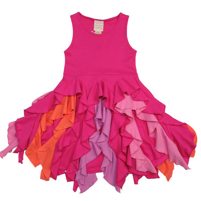 BRIGHT BLOSSOM DRESS - FUCHSIA/PURPLE