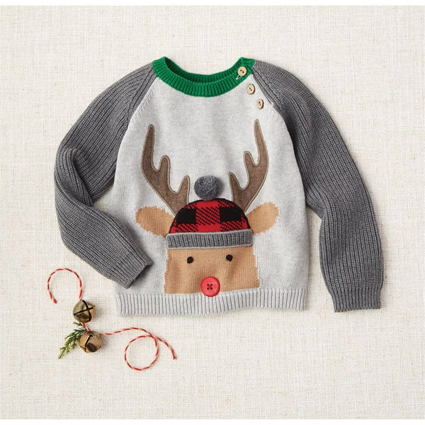 MUD PIE ALPINE REINDEER SWEATER