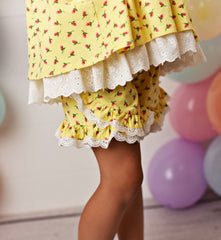 SERENDIPITY YELLOW POCKET TUNIC, SHORTIES & HEADBAND