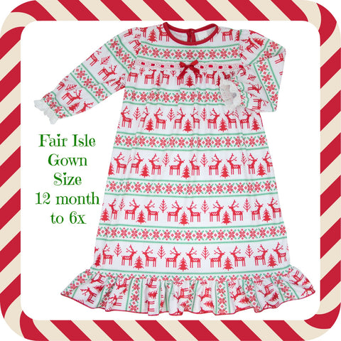 FAIR ISLE CHRISTMAS NIGHTGOWN