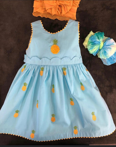 COTTON KIDS PINEAPPLE DRESS