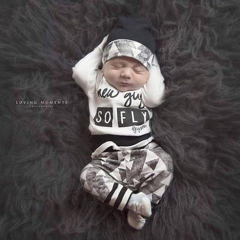 NEW GUY ~ SO FLY NEWBORN SET
