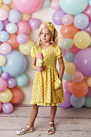 SERENDIPITY SPRING GARDEN POCKET DRESS WITH SHORTIES & HEADBAND
