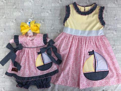 MILLIE JAY LITTLE SISTER SAILBOAT 2 PIECE SET