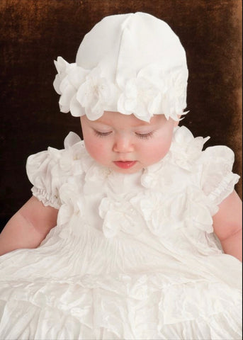 BISCOTTI HEIRLOOM CHRISTENING GOWN & HAT