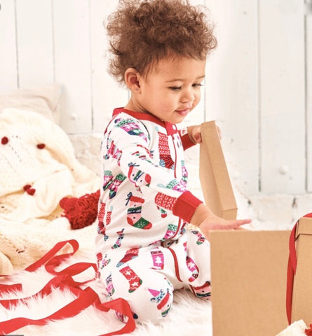 HATLEY HOLIDAY FOOTED ROMPER ORGANIC COTTON
