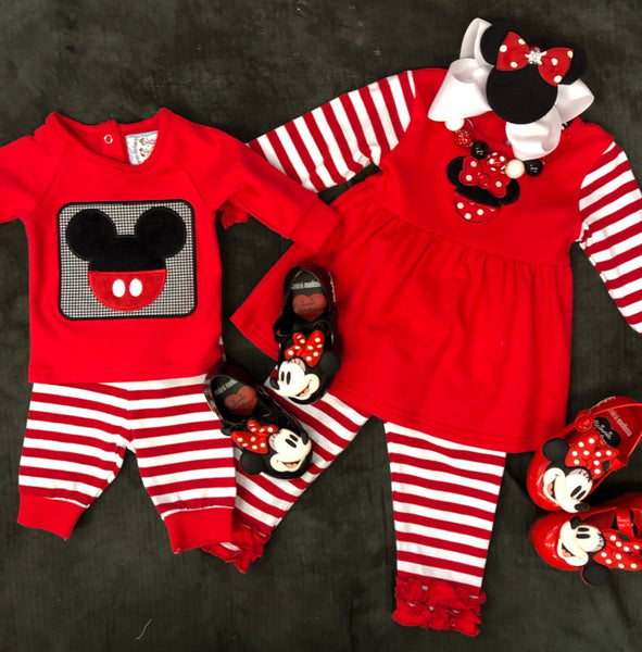 MICKEY 2-PIECE KNIT INFANT SET