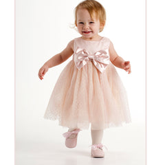 Biscotti / Kate Mack Satin Bow Dress Big Sister