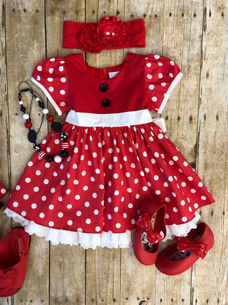 SERENDIPITY MINNIE POLKA DOT DRESS
