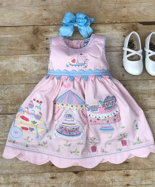 COTTON KIDS TEA PARTY BIRTHDAY DRESS