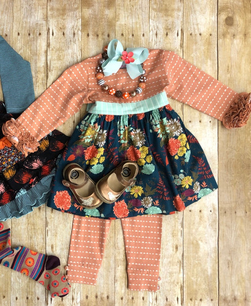 FALL FOLIAGE DRESS SET