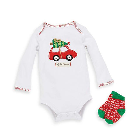 MUD PIE FIRST CHRISTMAS 2 PIECE SET