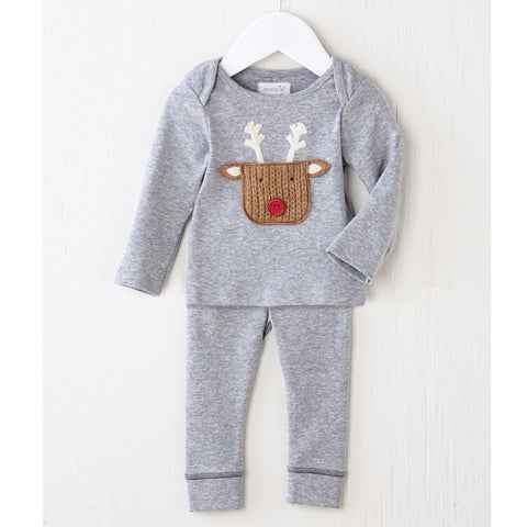 MUD PIE REINDEER POCKET 2 PIECE