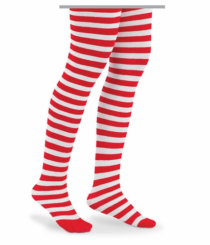 RED/WHITE STRIPE TIGHTS